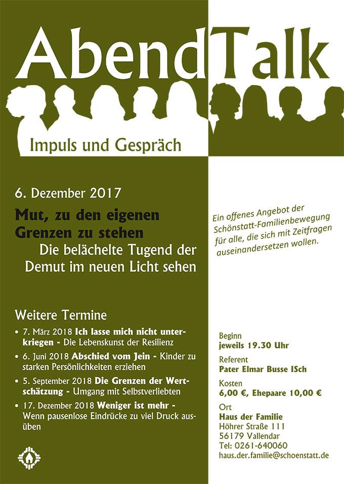 Plakat Abendtalk Dezember 2016 (Grafik: Brehm)