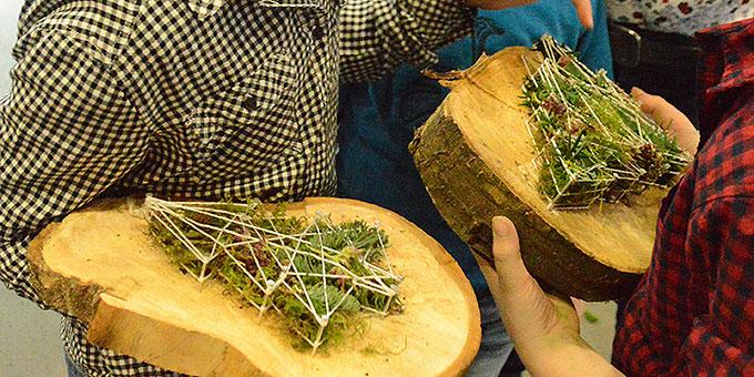 Was man aus Schnur, Holzscheibe und Nägeln so machen kann ...  (Foto: Rechtien)