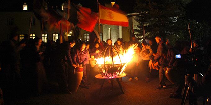 Bündnisfeuer am 18. November beim Urheiligtum in Schönstatt/Vallendar (Foto: Brehm)