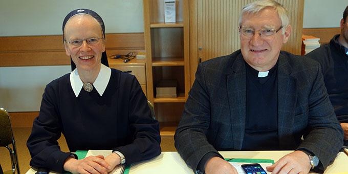 Die Vertreter Deutschlands waren Schwester Andra-Maria Lingscheid und Bewegungsleiter Pater Ludwig Güthlein  (Foto: IKS)