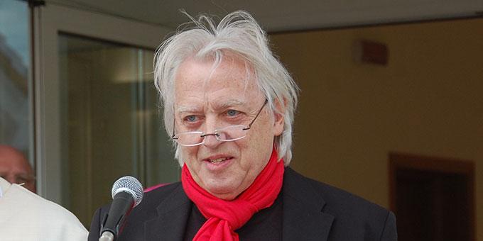 Architekt Rainer Pörsch bei der Eröffnung (Foto: Brehm)