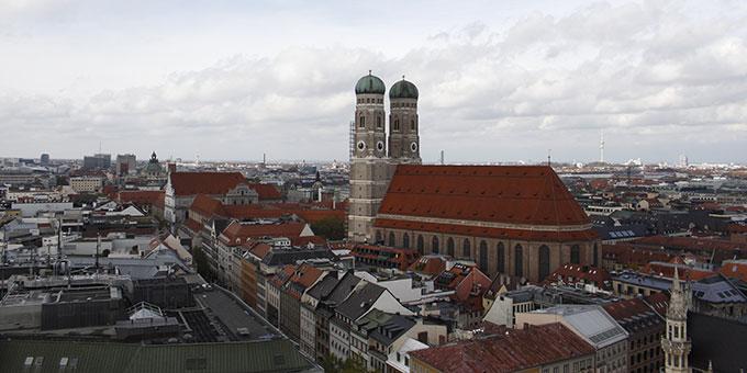 München von oben aus gesehen (Foto: Göllmann)