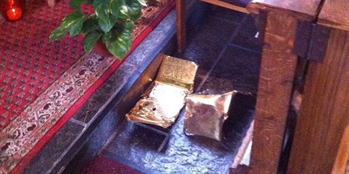 Die Zierbleche der Tabernakeltüren des Schönstatt-Heiligtums in Gelsenkirchen Horst wurden herausgerissen (Foto: Callegari)