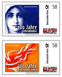 Briefmarken aus dem Jubiläumsjahr 2014 (Gestaltung: T. Brehm)