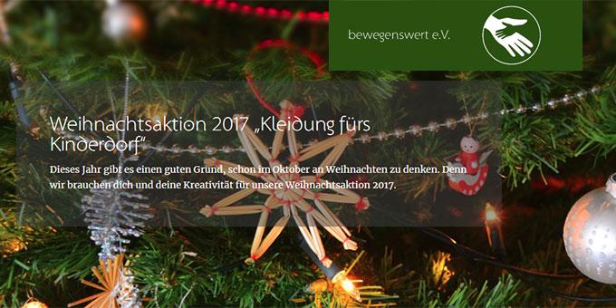 Weihnachtsspendenaktion von bewegenswert e.V.