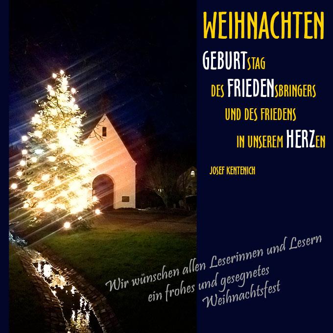 Frohe Weihnachten! (Foto/Grafik: Brehm)