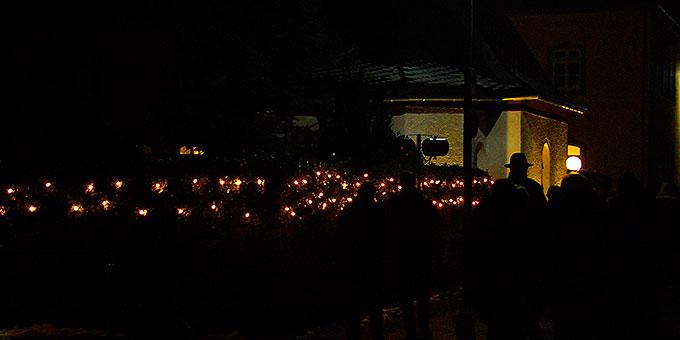 Adventliche Lichter beim Urheiligtum in Schönstatt/Vallendar (Foto: Brehm)