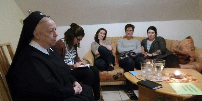 Mit Sr. M. Birgida Hille im Gespräch (Foto: Andrea Wehner)