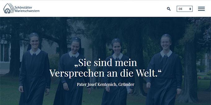 Neue Internetpräsenz der Schönstätter-Marienschwestern ist online: www.s-ms.org