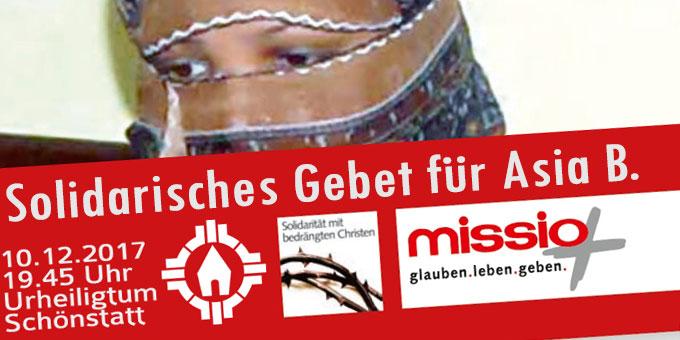Solidarisches Gebet für Aia B. im Urheiligtum Schönstatt