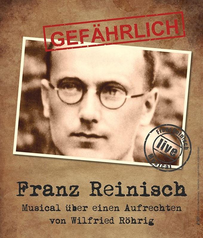 Plakat zum Musical über Franz Reinisch (Grafik: rigma.de)