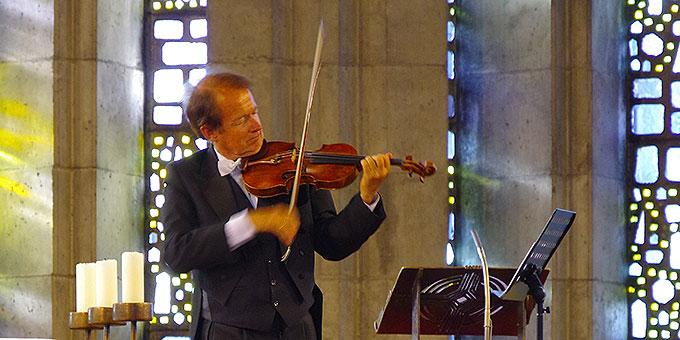 Sonntag 12. August 2018: Prof. Michael Grube, Violine (Foto: Niestroj)