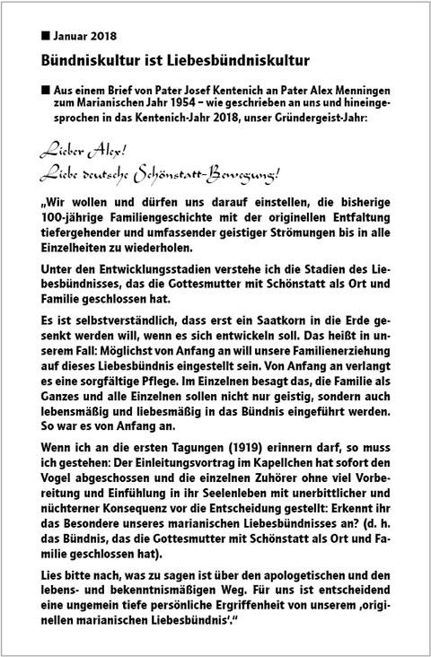 Pater Kentenich schreibt (Foto: Archiv)