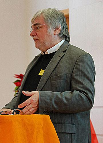 Diakon Bernhard Brantzen, Sprecher der SDG, hält den Festvortrag und ordnet dabei kirchliche und gesellschaftliche Entwicklungen als Aufgabe und Herausforderung ein (Foto: (c) SDG)