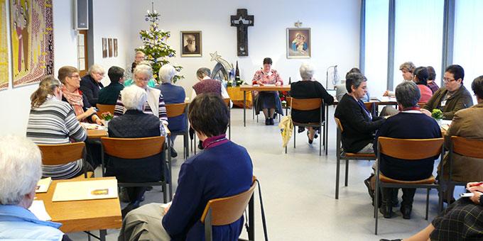 """Im """"Kongresssaal"""" in Haus Mariengart, in SChönstatt/Vallendar (Foto: AUTOR)"""