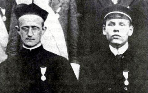 Pater Josef Kentenich (l) und Josef Engling (Foto: POS, Archiv)
