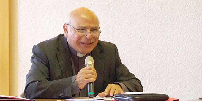 Pater Dr. Mario Romero bei seinem Impulsreferat  (Foto: Neiser)