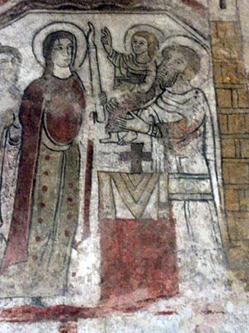 Fresko von der Darstellung des Herrn