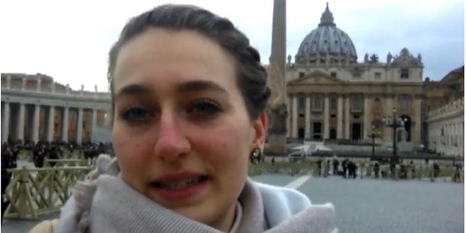 Magdalena Hartmann berichtet von ihren Erfahrungen auf der Vor-Synode zu Jugendfragen in Rom (Foto: privat)