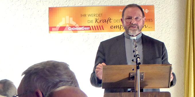 Pfarrer Josef Treutlein war Referent beim Männertag im Schönstatt-Zentrum Waldstetten (Foto: Grimm)