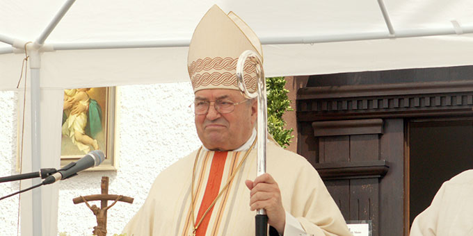 Kardinal Lehmann am 24. Juni 2007 am Schönstattheiligtum in Weiskirchen, Bistum Mainz (Archivfoto: POS)