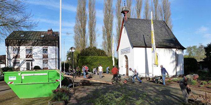 Baustelle Heiligtum Herxheim: 14. April 2018 (Foto: Dejon)