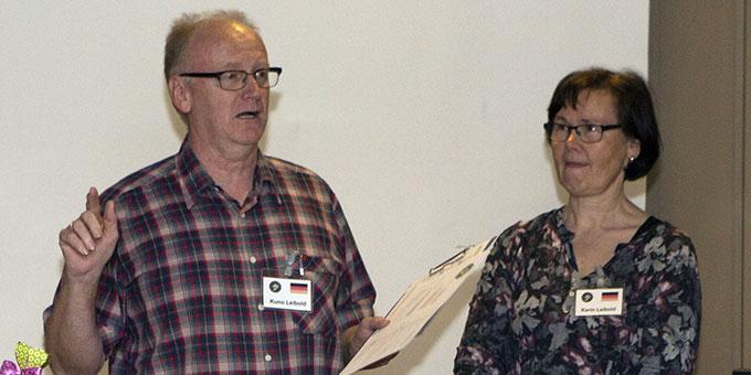 Karin und Kuno Leibold, Deutschland, bei der Begrüßung der Teilnehmer (Foto: Lilek)