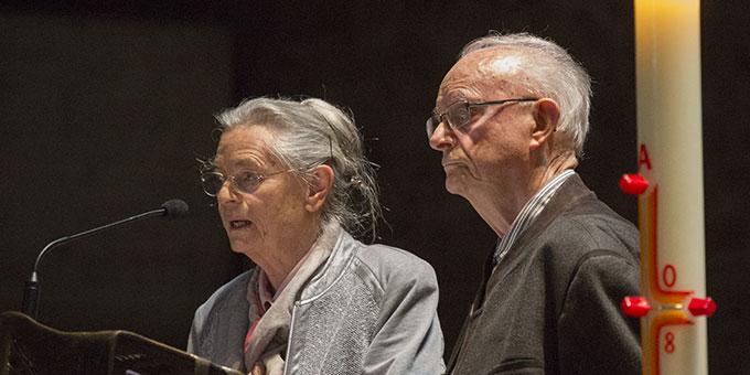 Zeugnis: Renate und Norbert Martin (Foto: Lilek)