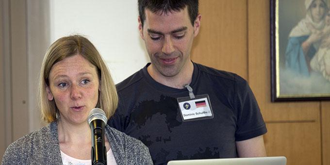 """Ehepaar Schultheiß, Deutschland, stellt das Projekt """"Zeit zu zweit"""" vor (Foto: Lilek)"""