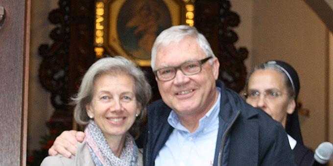 Simone und Urban Gehring, Schweiz, nach dem Gottesdienst im Heiligtum der Familien (Foto: Gehring)