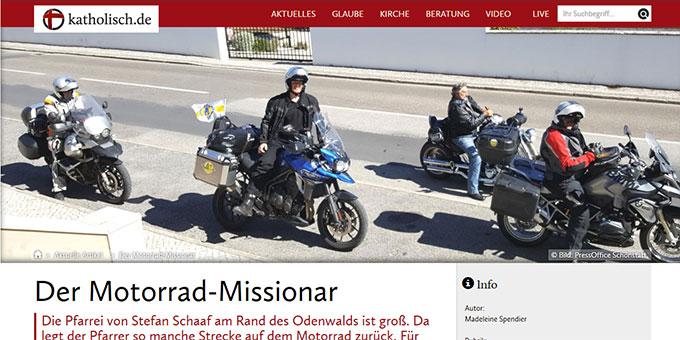 katholisch.de berichtet über den Schönstatt-Priester Pfarrer Stefan Schaaf (Foto: Website katholisch.de)