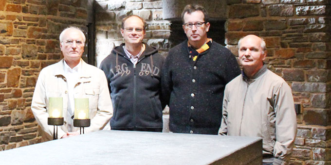 Ernest M. Kanzler, Schönstatt, Generaloberer; Thomas M. Butz, Schönstatt 1. Rat; Harald M. Knes, Kempten, 2. Rat; Manfred M. Worlitschek, Santa Maria RS, Brasilien, 3. Rat  (Foto: Kuller)