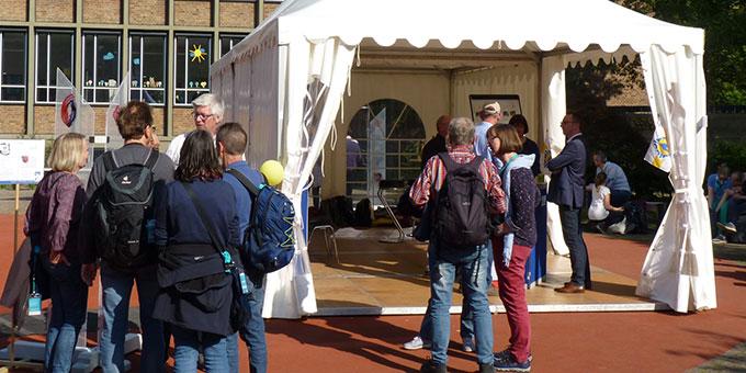 Der Ehewegstand auf dem Katholikentag in Münster (Foto: Leibild)