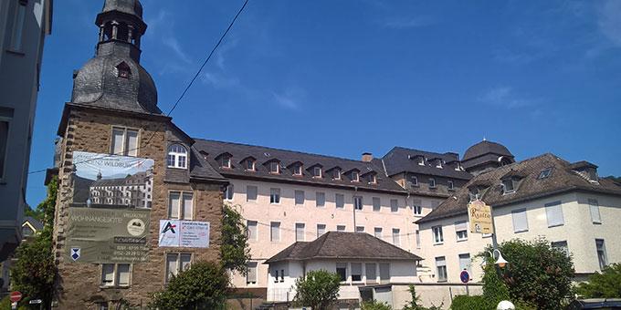 Das historische Gebäude auf dem Gelände der Wildburg in Vallendar (Foto: Brehm)