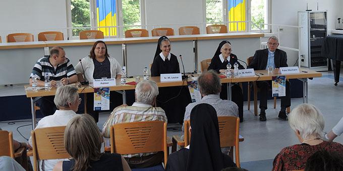 Mehr erfahren über Pater Josef Kentenich konnte man in einem Workshop in der Philosophisch-Theologischen Hochschule (Foto: Denkinger)