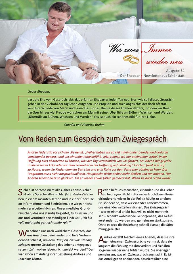 "Ehepaar-Newsletter 05/2018 ""Wir zwei - Immer wieder neu"" (Foto: (c) Dmitry Ersler, fotolia.com)"