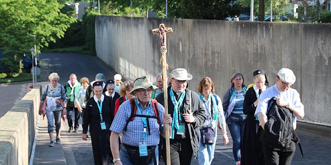 Katholikentag: Auf einem Pilgerweg durch Münster (Foto: SChulte)