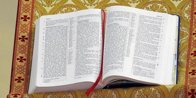 Aus der Heiligen Schrift wurde das Magnificat vorgetragen (Foto: McClay)