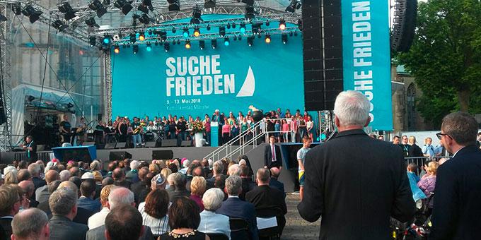 Eröffnungsveranstaltung des Katholikentages 2018 auf dem Domplatz in Münster (Foto: Sr. Vernita Weiss)