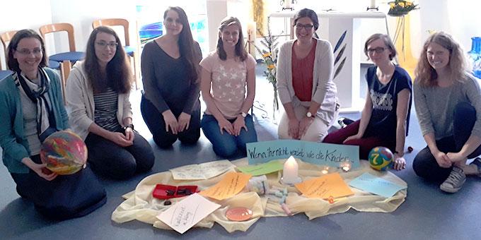 """Die Teilnehmerinnen des """"Schönstatt intensiv"""" Wochenendes in Haus Sonnenau / Vallendar (Foto: Andrea Wehner)"""