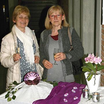 Persönliche Begrüßung am Eingang (Foto: Maria Peitz)