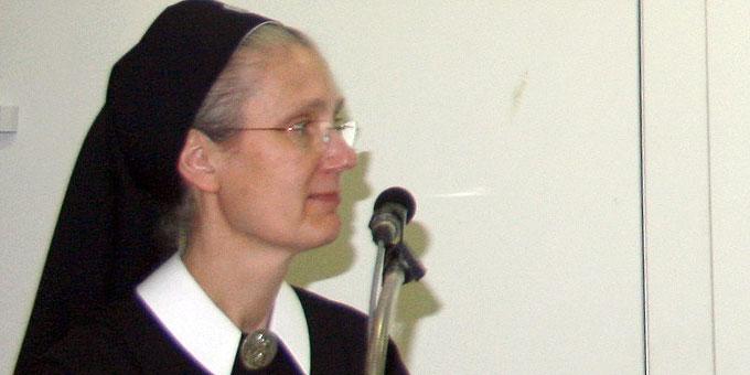 Die Referentin Sr. Marie-Jeannette Wagner (Foto: Maria Peitz)