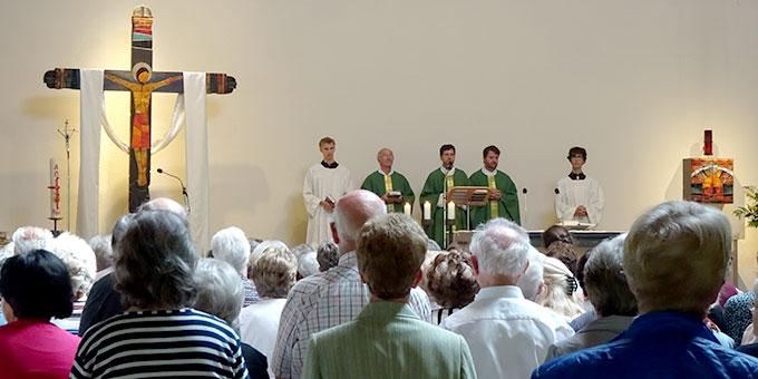Pilgergottesdienst mit Wallfahrtsleiter Pater Lothar Herter (Foto: Brück)