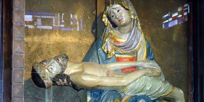 """""""Pieta"""" in der Kirche """"Maria Himmelfahrt"""" in Grefrath (Foto: Nöthen)"""