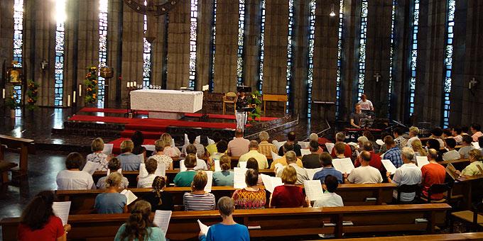 Chortage des Cäcilienverbandes im Schönstatt-Zentrum Liebfrauenhöhe (Foto: Meinert)