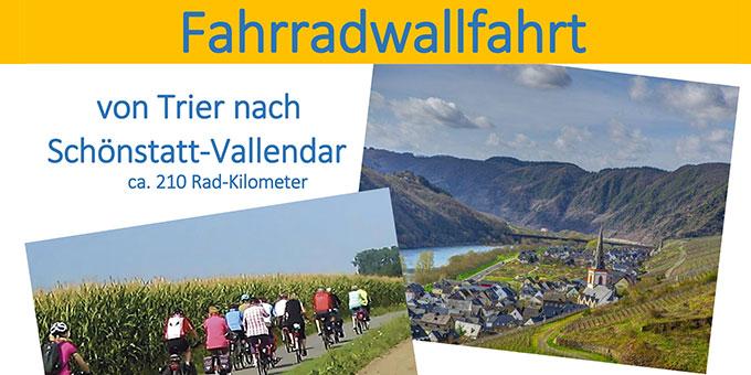 Fahrradwallfahrt von Trier nach Schönstatt/Vallendar (Foto: SchönstattzentrumTrier)