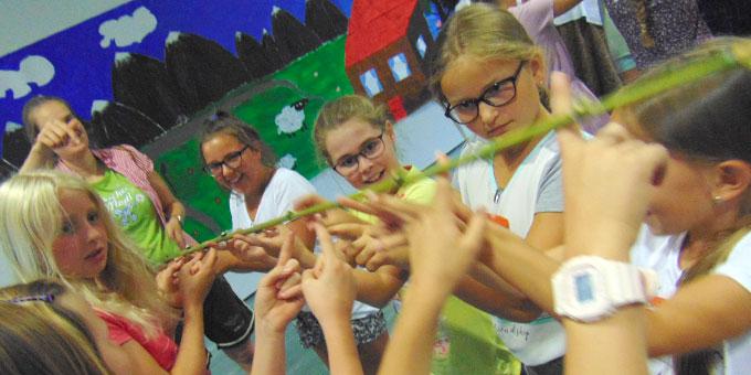 Spaß für Mädchen bei der Ferienwoche der SchönstattMJF, Borken (Foto: Hellenkamp)