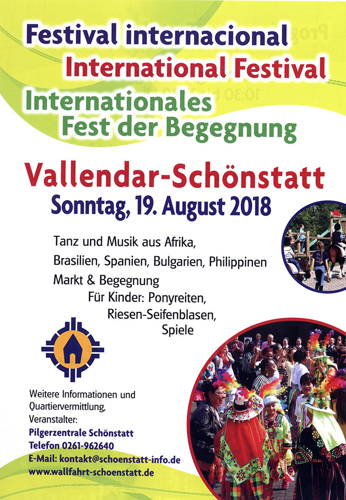 Internationales Fest der Begegnung (Layout: Pilgerzentrale)