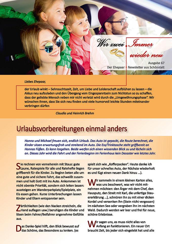 "Ehepaar-Newsletter 07/2018 ""Wir zwei - Immer wieder neu"" (Foto: (c) Nichizhenova Elena, fotolia.com)"