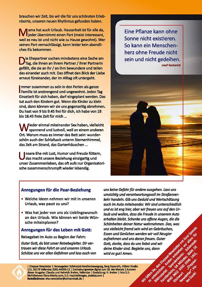 """Ehepaar-Newsletter 07/2018 """"Wir zwei - Immer wieder neu"""" (Foto: InspiredImages, pixabay.com)"""